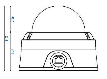HD-SDI видеорекамера MDC-H8260VTD - размеры
