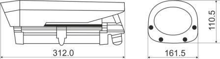 Размеры IP-видеокамеры MDC-i6221TDN-66H MicroDigital