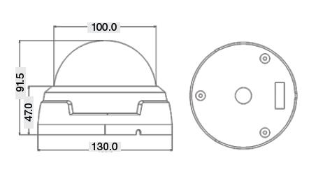 Размеры IP-видеокамеры MDC-i7260F MicroDigital