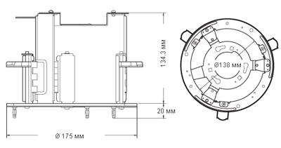 Размеры кронштейна ISE-12Z/FMK Infinity
