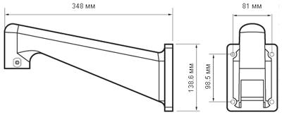 Размеры кронштейна NVP-WB Infinity