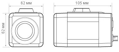Размеры видеокамеры CX-22ZWDN580SD Infinity