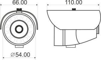 Видеорекамера MDC-6210F-24 - размеры
